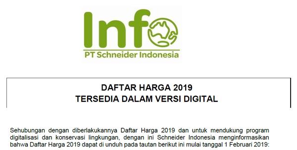 DAFTAR HARGA SCHNEIDER 2019